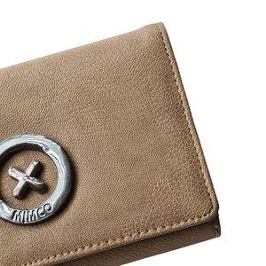 Mimco Brown Rustic Vintage Look Wallet Purse